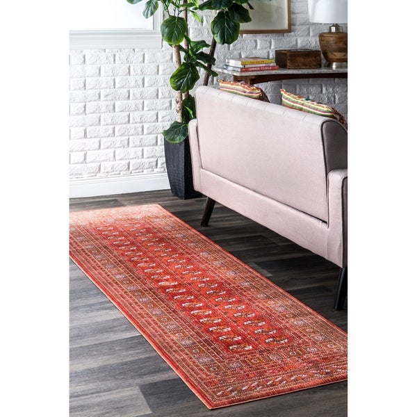nuLOOM Red Vintage Stylish Antique Persian Fringe Area Rug