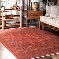 "nuLOOM Red Vintage Stylish Antique Persian Fringe Area Rug - 5' x 7'9"""