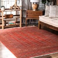 nuLoom Red Vintage Antique Persian Fringe Area Rug - 8' x 10'