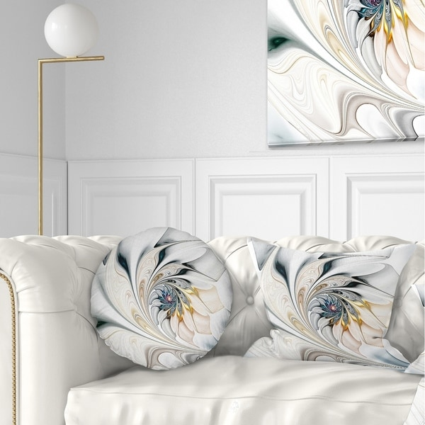 Designart Stained Glass Floral Throw Pillow