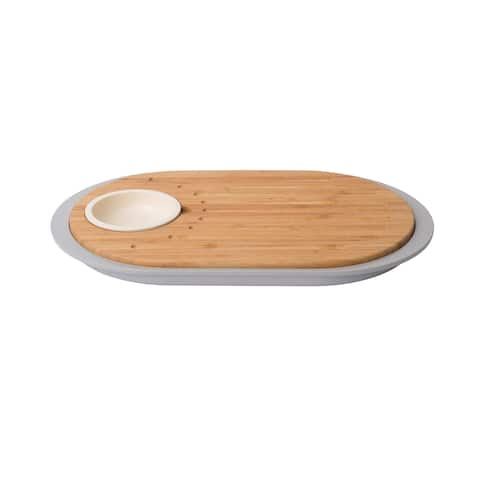 Leo 2-sided Tapas Cutting Board with Tray
