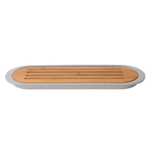 Leo Bamboo Baguette Cutting Board with Tray