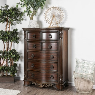 Furniture of America Pune Traditional Brown Wood 7-drawer Chest