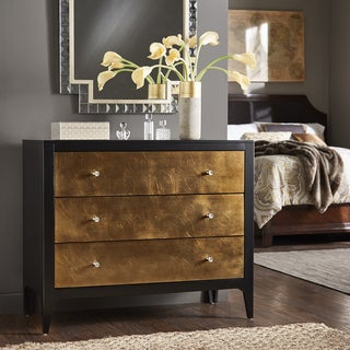 Zane Two-Tone Black and Metallic Copper Leaf 3-Drawer Chest by iNSPIRE Q Bold