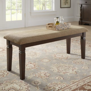 Link to Lynn Espresso Finish Upholstered Dining Bench by iNSPIRE Q Classic Similar Items in Kitchen & Dining Room Chairs