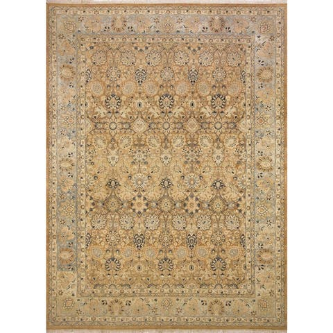Pak Persian Ping Lt. Brown/Lt. Blue Hand-Knotted Rug -8'10 x 12'2 - 8 ft. 10 in. x 12 ft. 2 in.