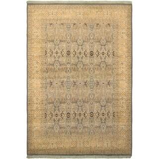 Tabriz Pak-Persian Lacresha Lt. Blue/Beige Wool Rug (9'0 x 11'11) - 9 ft. 0 in. x 11 ft. 11 in.