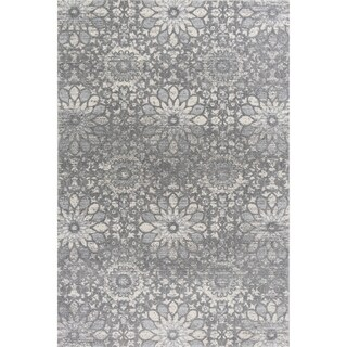 KAS Relic Charcoal Mosaic Area Rug - 7' 7 x 10' 10