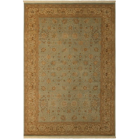 Istanbul Francisc Lt. Blue/Beige Turkish Hand-Knotted Rug -12'2 x 18'5 - 12 ft. 2 in. x 18 ft. 5 in.