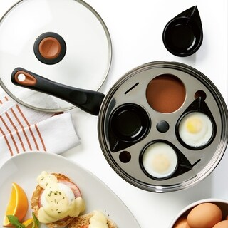 Farberware Glide Copper Ceramic Nonstick Cov Egg Poacher 8in Copper