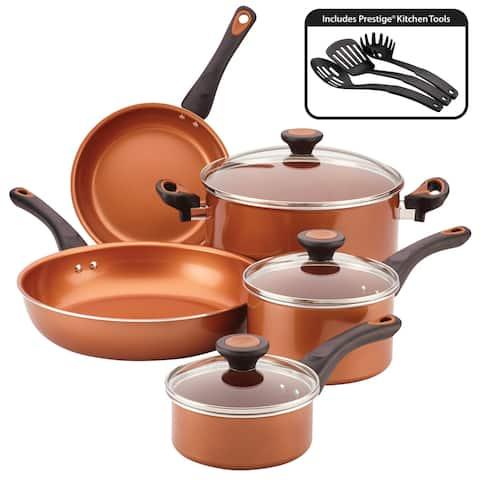 Farberware Glide Copper Ceramic Nonstick Cookware Set 11pc