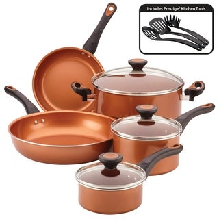 Farberware Glide Copper Ceramic Nonstick Cookware Set 11pc