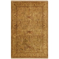 Pak Persian Griselda Tan/Gold Hand-Knotted Rug -4'2 x 6'2 - 4 ft. 2 in. x 6 ft. 2 in.