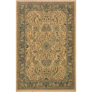 Istanbul Catrina Ivory/Lt. Green Turkish Hand-Knotted Rug -4'2 x 6'1 - 4 ft. 2 in. x 6 ft. 1 in.