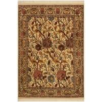 Pak-Persian Renae Ivory/Pink Wool Rug (4'0 x 5'10) - 4 ft. 0 in. x 5 ft. 10 in.