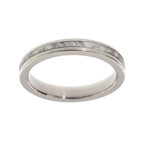 Authentic Gibeon Meteorite Ring 3mm Comfort-Fit Titanium Band Jewelry