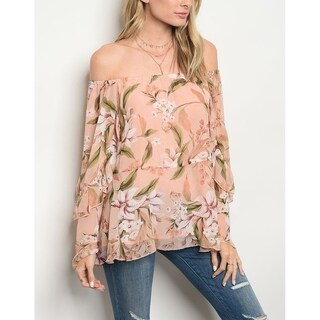 JED Women's Off Shoulder Floral Chiffon Top (4 options available)