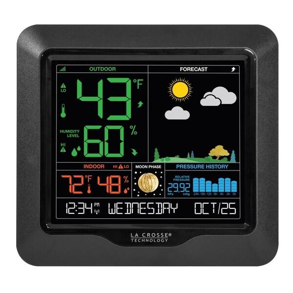 La Crosse Technology S84107-INT Wireless Color Forecast Station. Opens flyout.