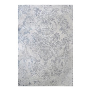 Uttermost Valour Light Grey and Blue Ink Rug