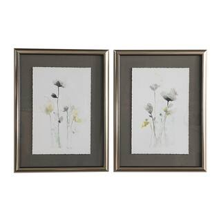 Uttermost Stem Illusion Floral Arts (Set of 2) - Grey/Green/White