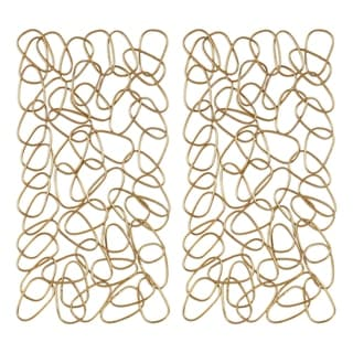 Uttermost In The Loop Gold Wall Arts (Set of 2)