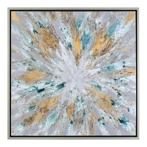 Uttermost Exploding Star Modern Abstract Art - Multi-color