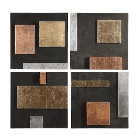 Uttermost Mixed Metals Wall Arts (Set of 4)