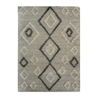 Uttermost Alvy Ivory and Grey Tribal Rug