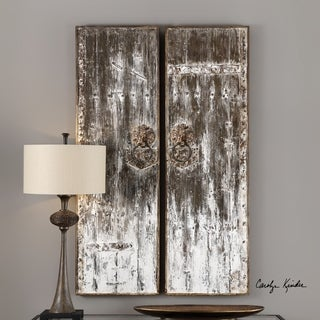 Uttermost Giles Aged Wood Wall Art (Set of 2)
