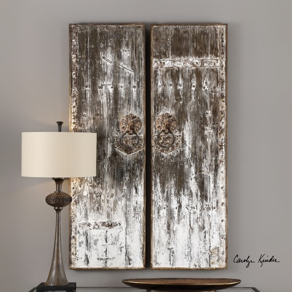Shop Uttermost Giles Aged Wood Wall Art (Set Of 2)