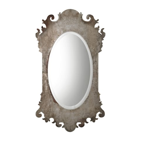Uttermost Vitravo Burnished Oxidized Silver Mirror