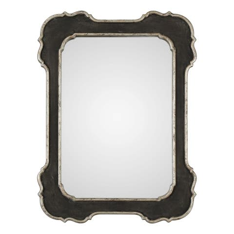 Uttermost Bellano Textured Aged Black Mirror