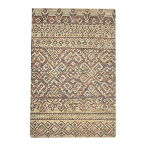 Uttermost Liam Hemp Natural and Brown Rug - 8' x 10'