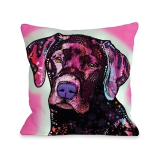Black Lab  Pillow by Dean Russo