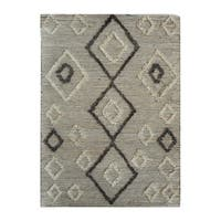 Uttermost Alvy Natural Ivory and Grey Tribal Rug