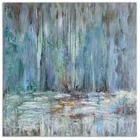 Uttermost Blue Waterfall Art - Multi-color - 40 x 40