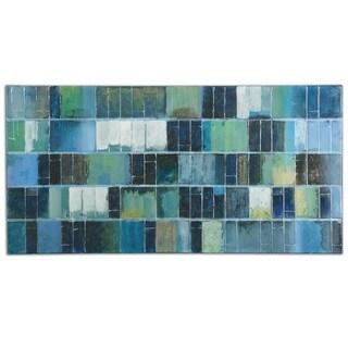 Uttermost Glass Tiles Modern Art - Blue/Green