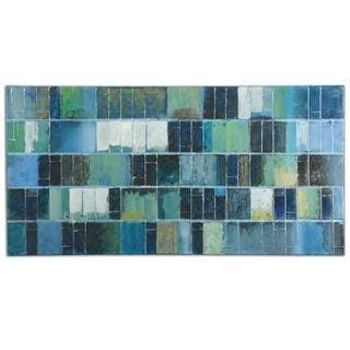 Uttermost Glass Tiles Modern Art - Blue/Green
