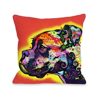 Profile Boxer 18x18 Pillow by Dean Russo