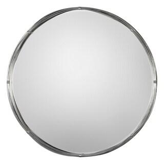 Uttermost Ohmer Antiqued Metallic Silver Leaf Mirror