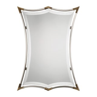Uttermost Verity Plated Brushed Nickel Mirror
