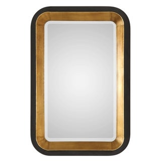 Uttermost Niva Antiqued Metallic Gold Leaf Mirror
