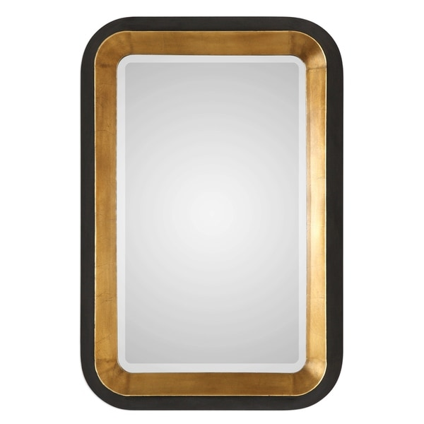 Uttermost Niva Antiqued Metallic Gold Leaf Mirror