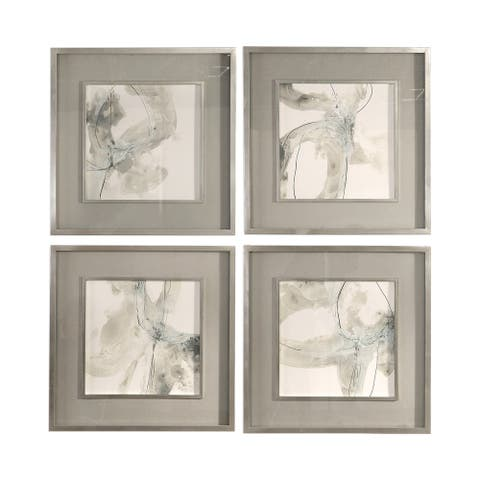 Uttermost Divination Abstract Art (Set of 4) - Grey