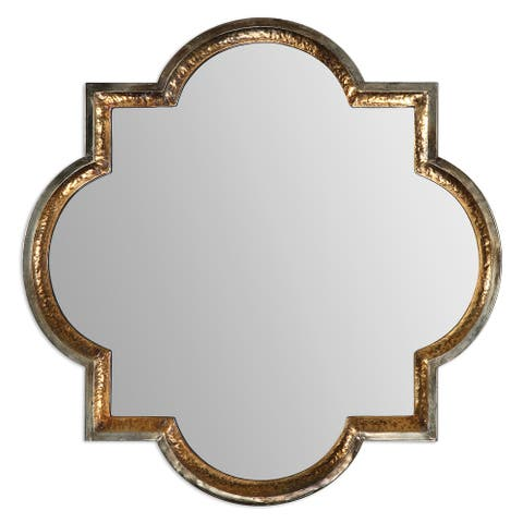 Uttermost Lourosa Antiqued Gold Mirror - Silver/Champagne