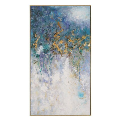 Uttermost Floating Abstract Art - Blue/White