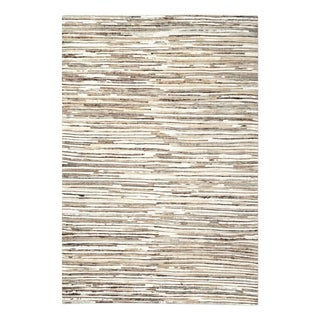 Uttermost Riviera Ivory and Rust Brown Rug - 5' x 8'