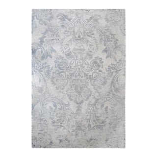 Uttermost Valour Ink Light Grey and Blue Rug - 5' x 8'