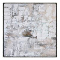 Uttermost Luxe Abstract Art - Grey/White