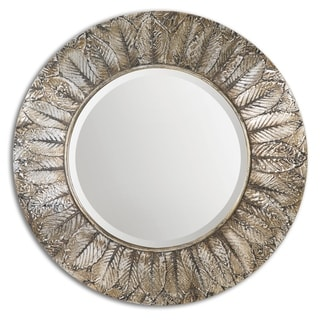 Uttermost Foliage Distressed Silver Leaf Mirror